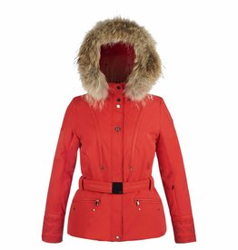 Poivre Blanc Ladies Stretch Ski Jacket Red