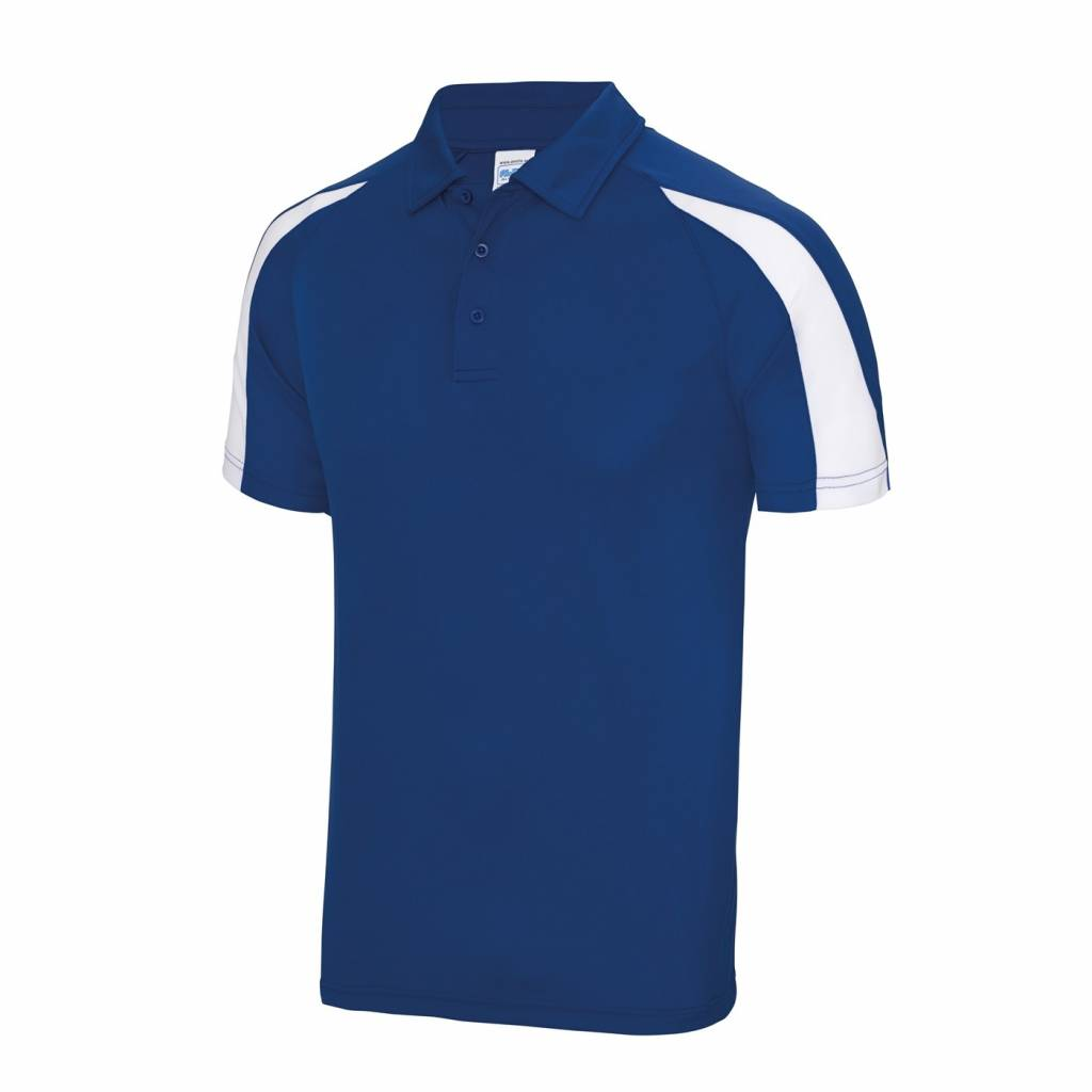 Dunstable Adults Contrast Cool Polo Royal/White
