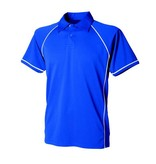 Dunstable Adults Piped Polo Royal/White