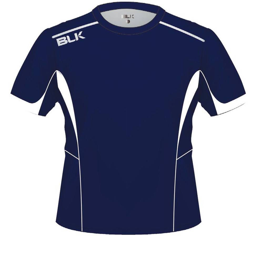 BLK OA Adults Tek V Tee Navy