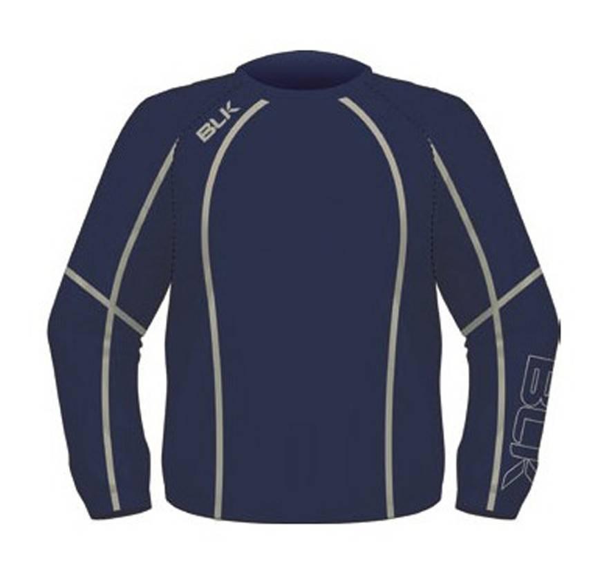 BLK OA Kids Tek V Pullover Navy