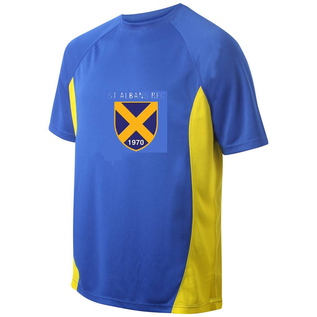 St Albans Junior Training T-Shirt Royal/Amber
