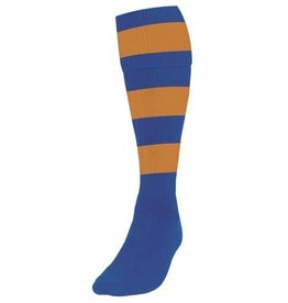 Striped Club Sock Royal/Amber UK 7/11