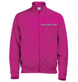 Premium Force UCANJOG Adults Full Zip Sweater Hot Pink