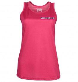 UCANJOG Ladies Cool Girlie Vest Hot Pink