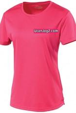 UCANJOG Ladies Cool Tee Hot Pink
