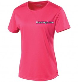 UCANJOG Ladies Cool Tee Hot Pink