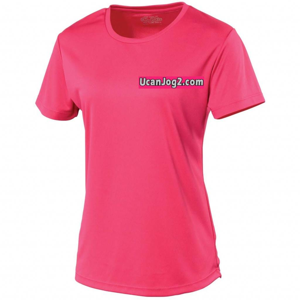 UCANJOG Girlie Cool Tee Hot Pink