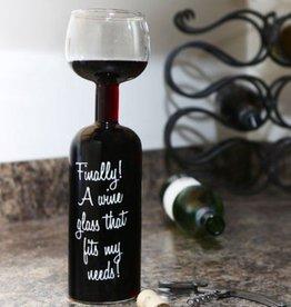 Big Mouth Inc Big Mouth Wine Bottle Glass