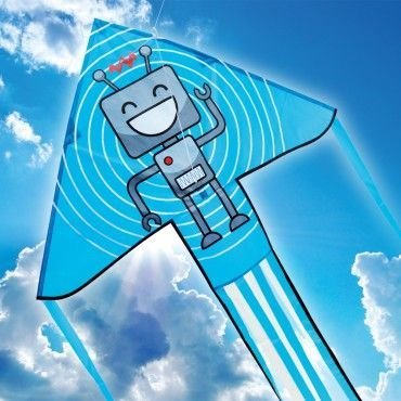 Brookite Robot Delta Kite Blue