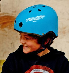 Micro Scooters Ltd Junior Micro Scooter Neon Blue Helmet *