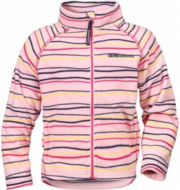 Didriksons Girls Monte Fleece Jacket Pink Billow