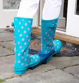 Ladies Spotty Wellies Turquoise