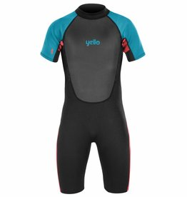 Boys Thresher Shorty Wetsuit Black/Blue