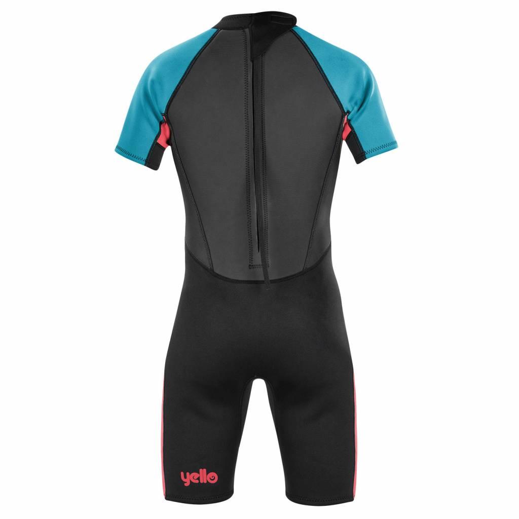 Boys Thresher Shorty Wetsuit Black/Blue