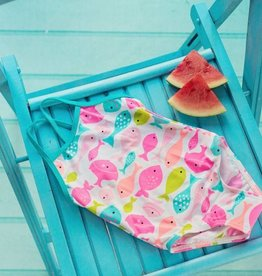 Girls Fish Print Swim Suit Multi