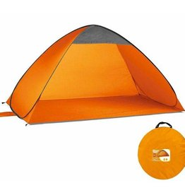 Orange Pop Up Beach Tent UPF 40+