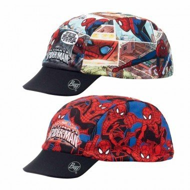 Buff Kids Spiderman Cartoon Buff UV Cap