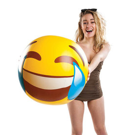 "Big Mouth Inc BM 20"" Beachball LOL Tears Emoji"