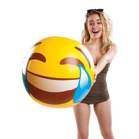 "Big Mouth Inc BM 20"" Beachball LOL Tears Emoji"