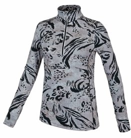 F.lli Campagnolo Ladies Carbon Print Zip Top Mineral
