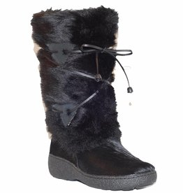 Ladies Giada Fur Snow Boot Black