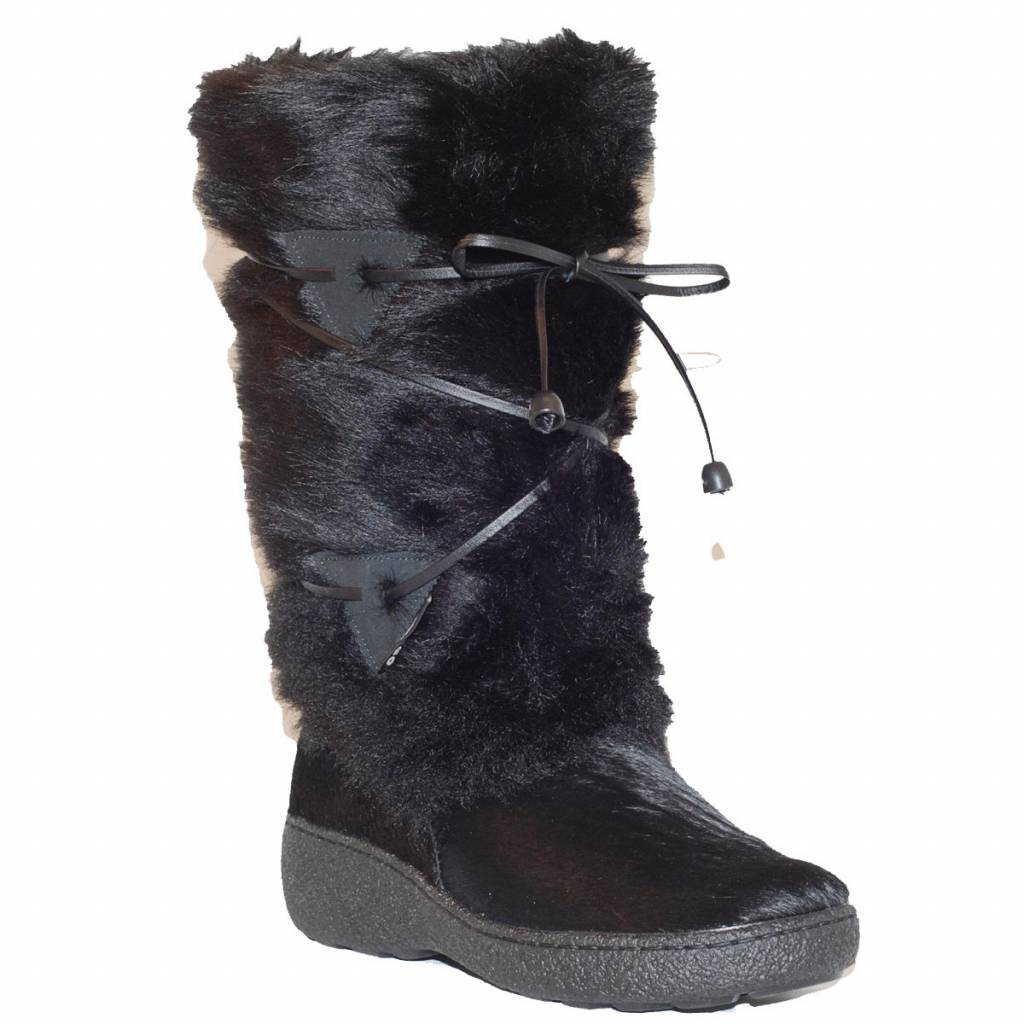Ladies Giada Fur Snowboot Black