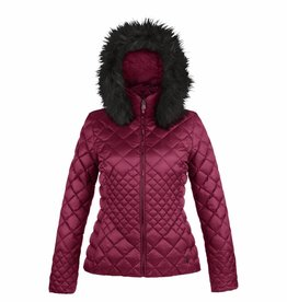 Poivre Blanc Ladies Quilted Down Jacket Red