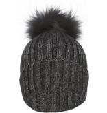 Jay Ley Ladies Wool & Fox Pompom Hat