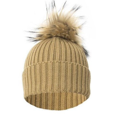 Jay Ley Ladies Wool & Fox Pompom Hat