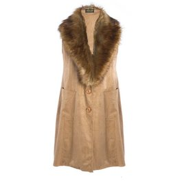 Jay Ley Jay Ley Suede Faux Fur Gilet