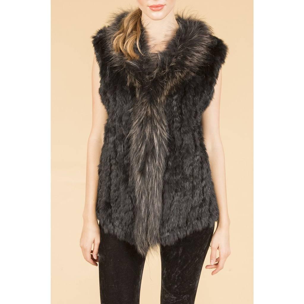 Jay Ley Jay Ley Fox & Coney Fur Pocketed Gilet