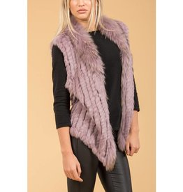 Jay Ley Jay Ley Fox & Coney Fur Pocketed Gilet