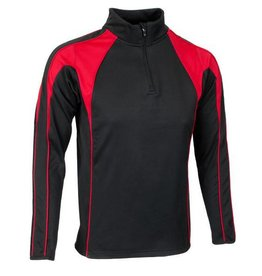 Premium Force Team Luton Midlayer 1/4 Zip Black/Red