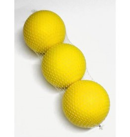 90mm Sponge Ball Yellow Pack of 3