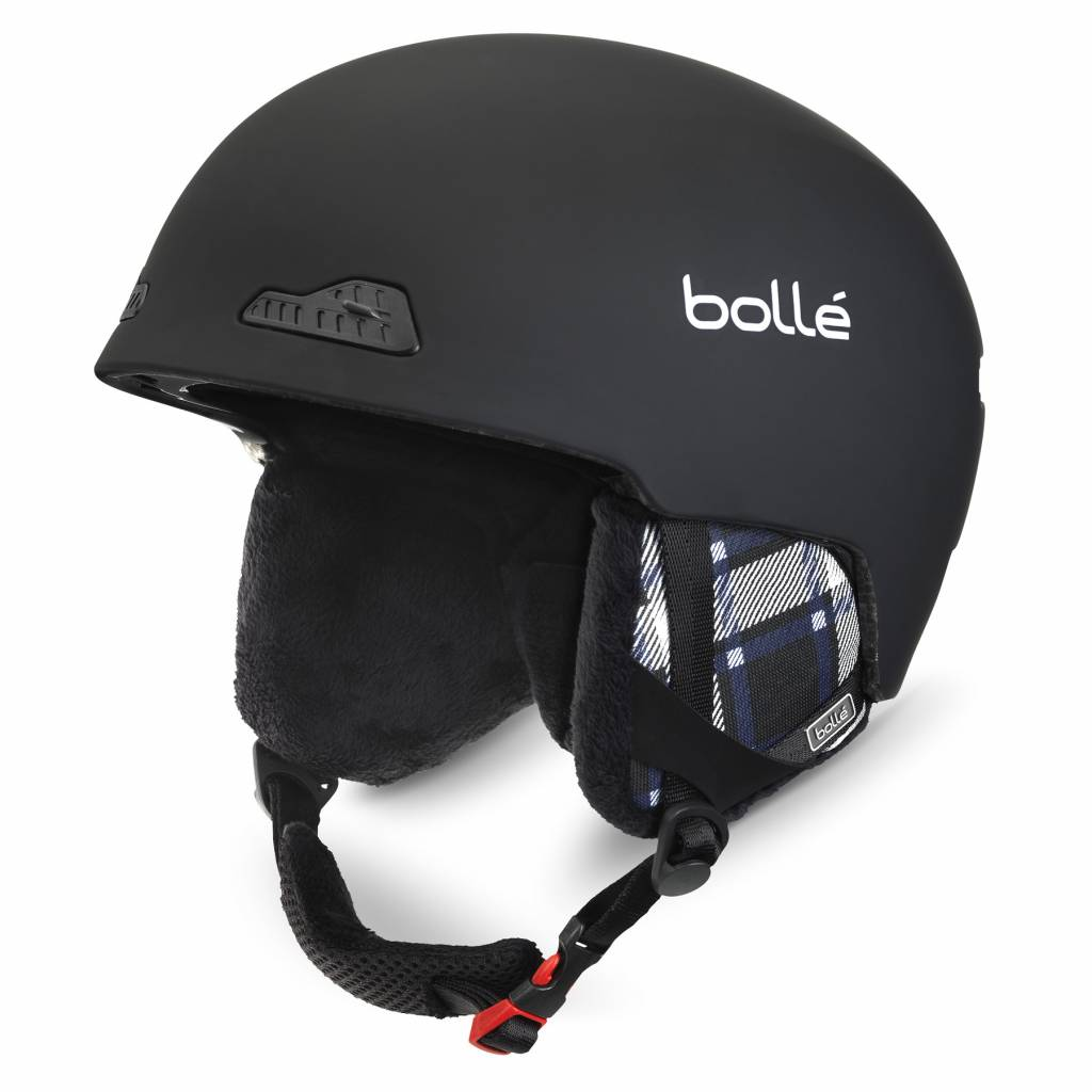 Bolle Adults B-Wild Ski Helmet Soft Black