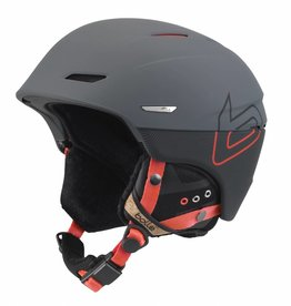 Bolle Adults Millenium Ski Helmet Soft Grey & Orange