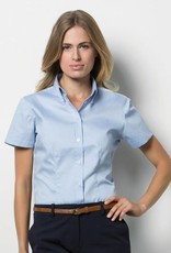 OA Saints Ladies Short Sleeve Blouse Light Blue