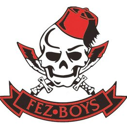 Fez Boys External Window Sticker 80mm