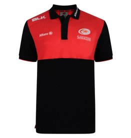 BLK Mens Saracens Players Media Polo 17/18