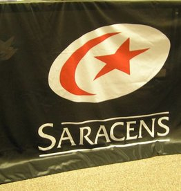 Saracens XL Saracens Flag With Eyelets
