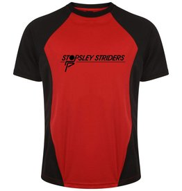 Premium Force Stopsley Striders Adults T-Shirt Black/Red