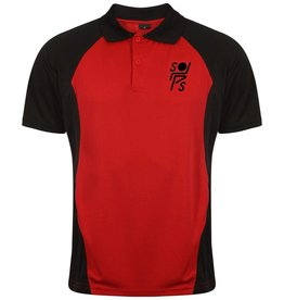 Premium Force Stopsley Striders Adults Polo Black/Red