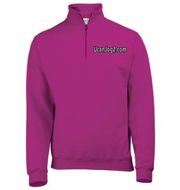 UCANJOG Adults 1/4 Zip Sweatshirt Hot Pink