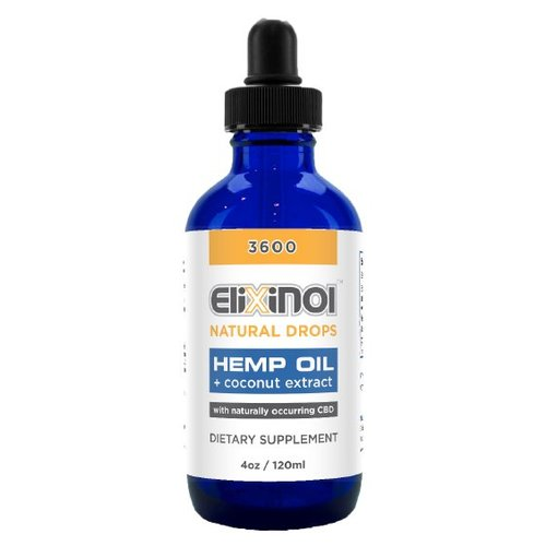 Elixinol CBD Olie 3600 mg Naturel