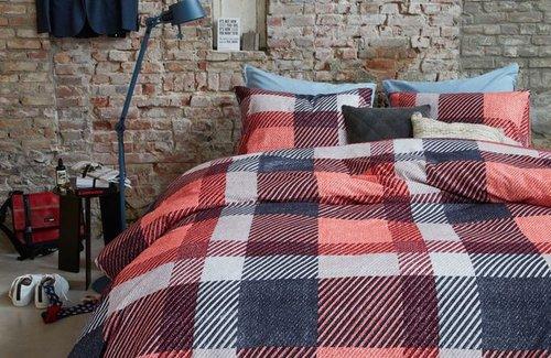Beddinghouse Dekbedovertrek Barrow Red 200x200/220 Red