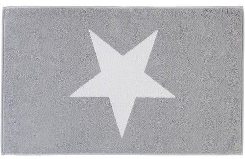 Cawö Badmat Stars Big 50x80 Zilver