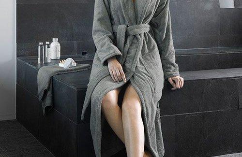 De Witte Lietaer Badjas Excellence Dark Grey