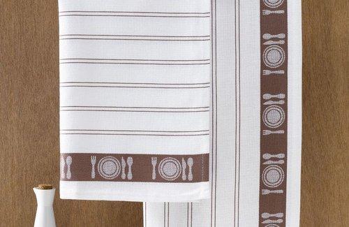 De Witte Lietaer Theedoek BML 65x65 Brown
