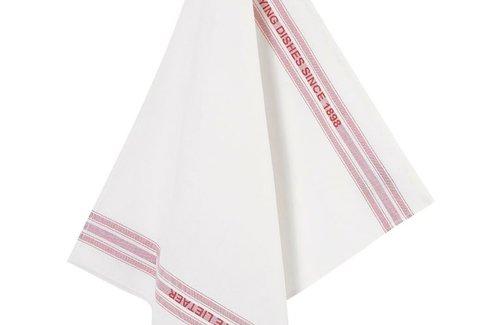 De Witte Lietaer Theedoek Dish 65x70 Red